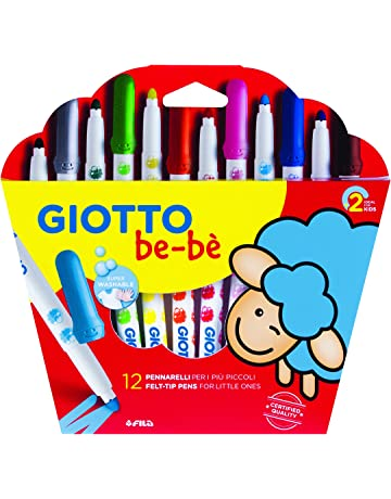 Giotto be-bè 466700 - Estuche 12 rotuladores súper lavables, punta bloqueada que no