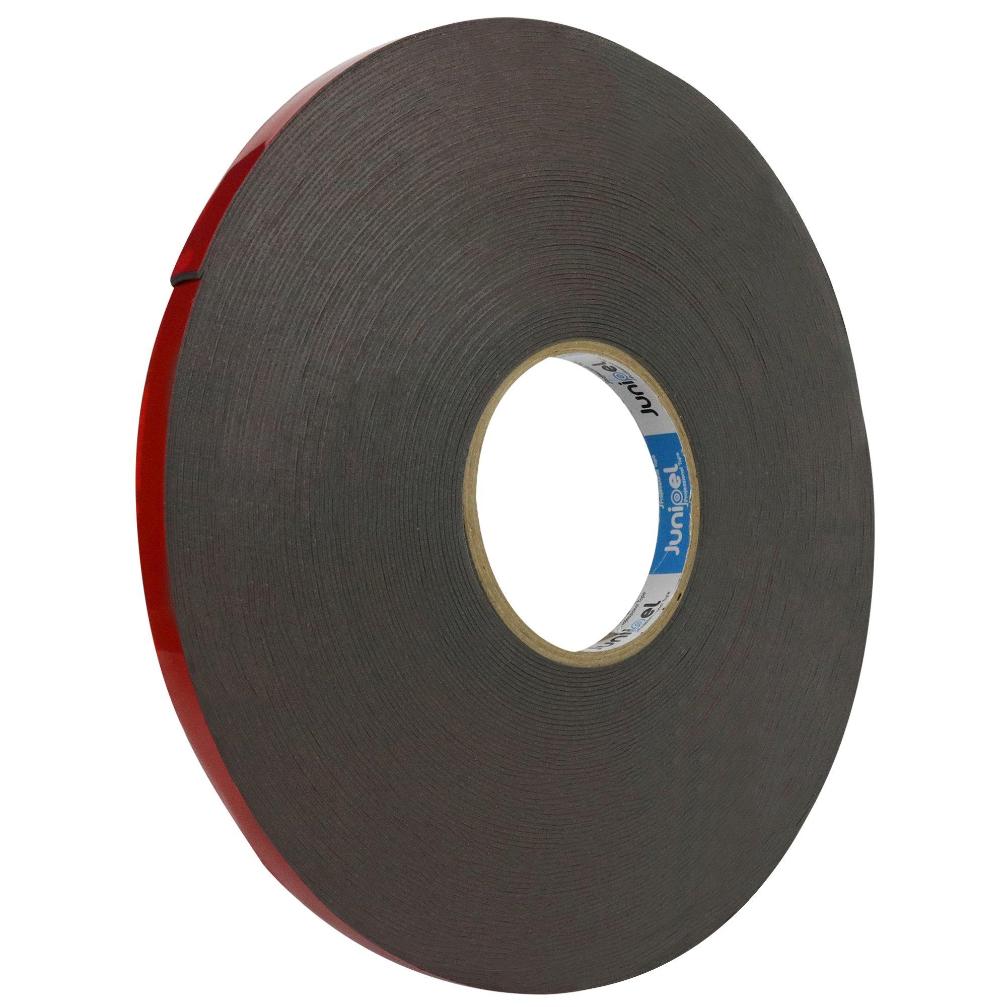 Junipel Automotive Grade Black Heavy Duty High Bound High Density Double Sided Tape 108 ft. Master Roll (1/2 in.)