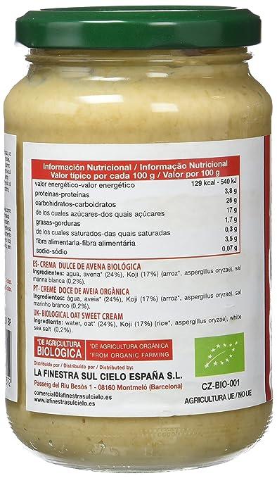 La Finestra Sul Cielo Amasake de Avena - 350 gr: Amazon.es: Alimentación y bebidas
