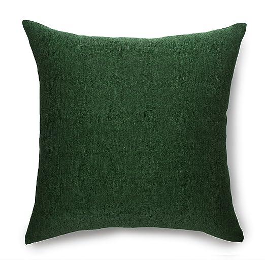 Solino Home Funda de almohada de lino 100% puro Natura ...
