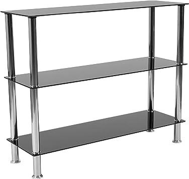Amazon.com: flash furniture Riverside colección vidrio negro ...