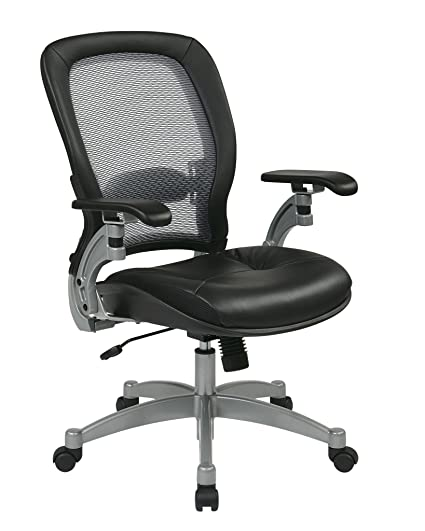 Exceptionnel Light Air Grid Chair With Leather Seat And Platinum Accents