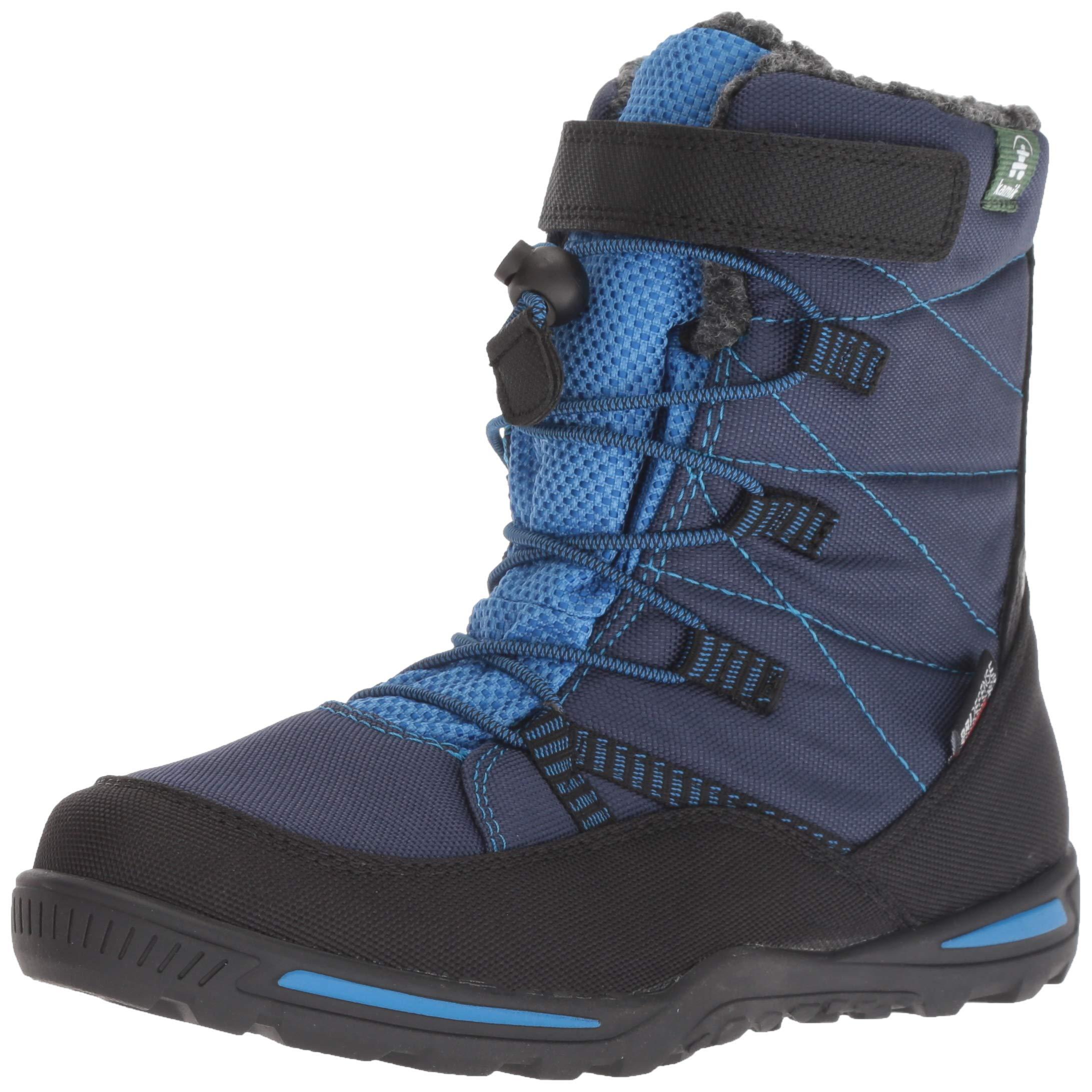 Kamik Boys' JACE Snow Boot, Navy/Blue, 6 Medium US Big Kid