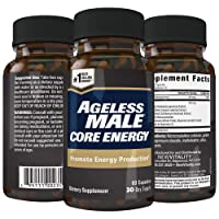 Ageless Male Core Energy for Men - Fast-Absorbing NMN for Conversion to NAD+ - Fight...