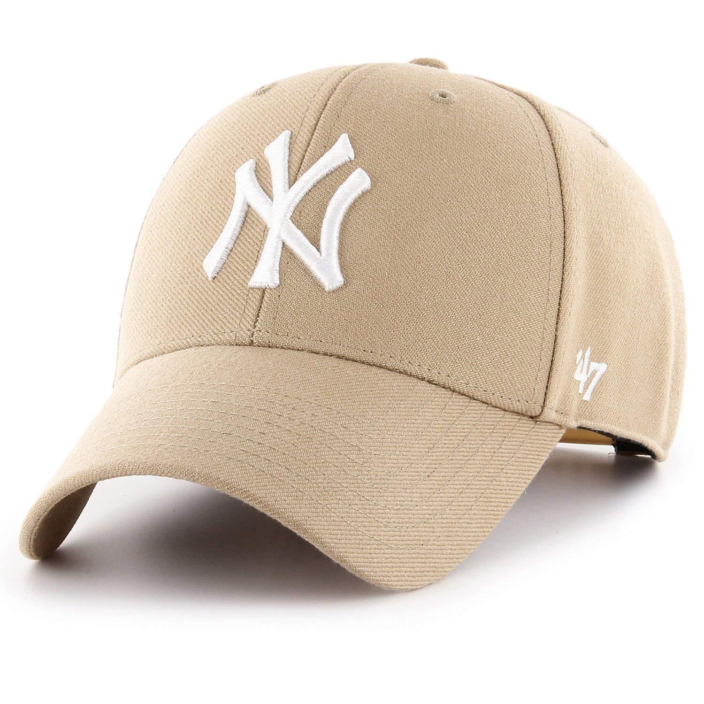Amazon.com   47 Brand Snapback Cap - MVP New York Yankees khaki  Clothing 53dd65c9b77