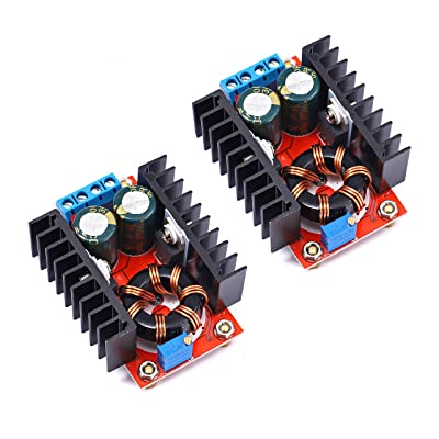 2PCS 150W DC-DC 10-32V to 12-35V Step Up Boost Converter Module Adjustable Power Voltage: Home Audio & Theater