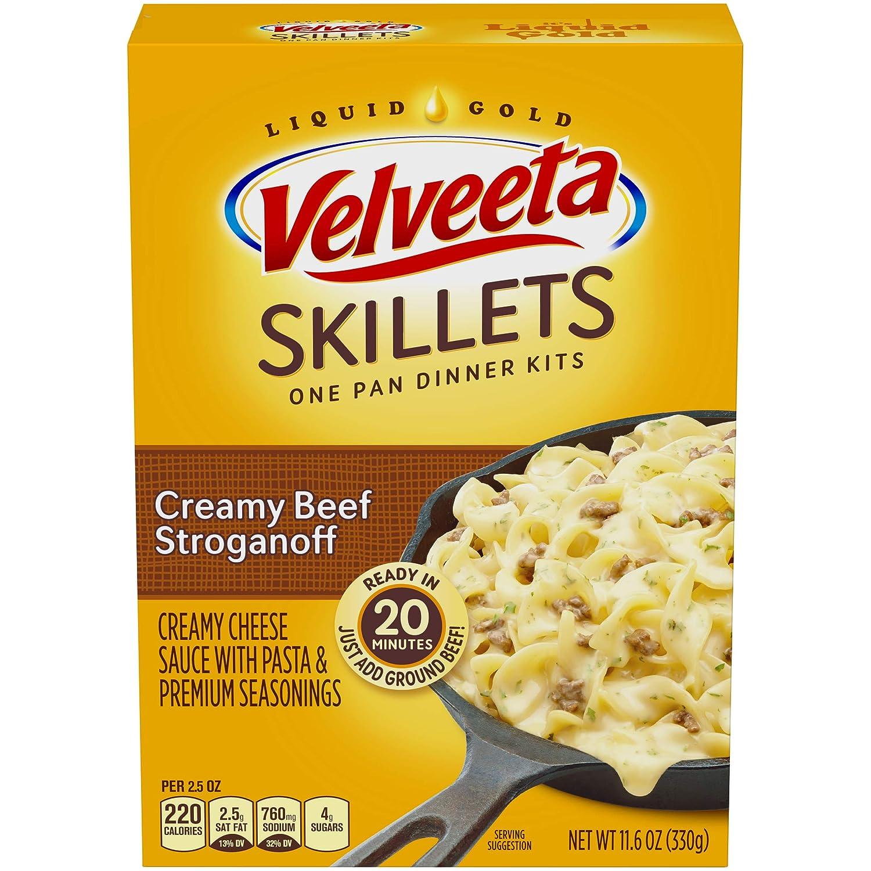 Velveeta Cheesy Skillets Creamy Beef Stroganoff Meal Kit (11.6 oz Box)
