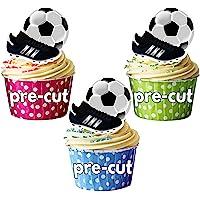Decoraciones comestibles para cupcakes, diseño de fútbol