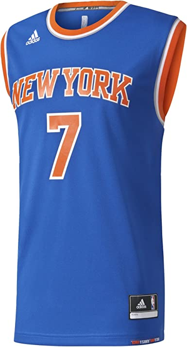 adidas INT Replica JRSY Camiseta de Baloncesto New York Knicks, Hombre, Azul, XL: Amazon.es: Zapatos y complementos