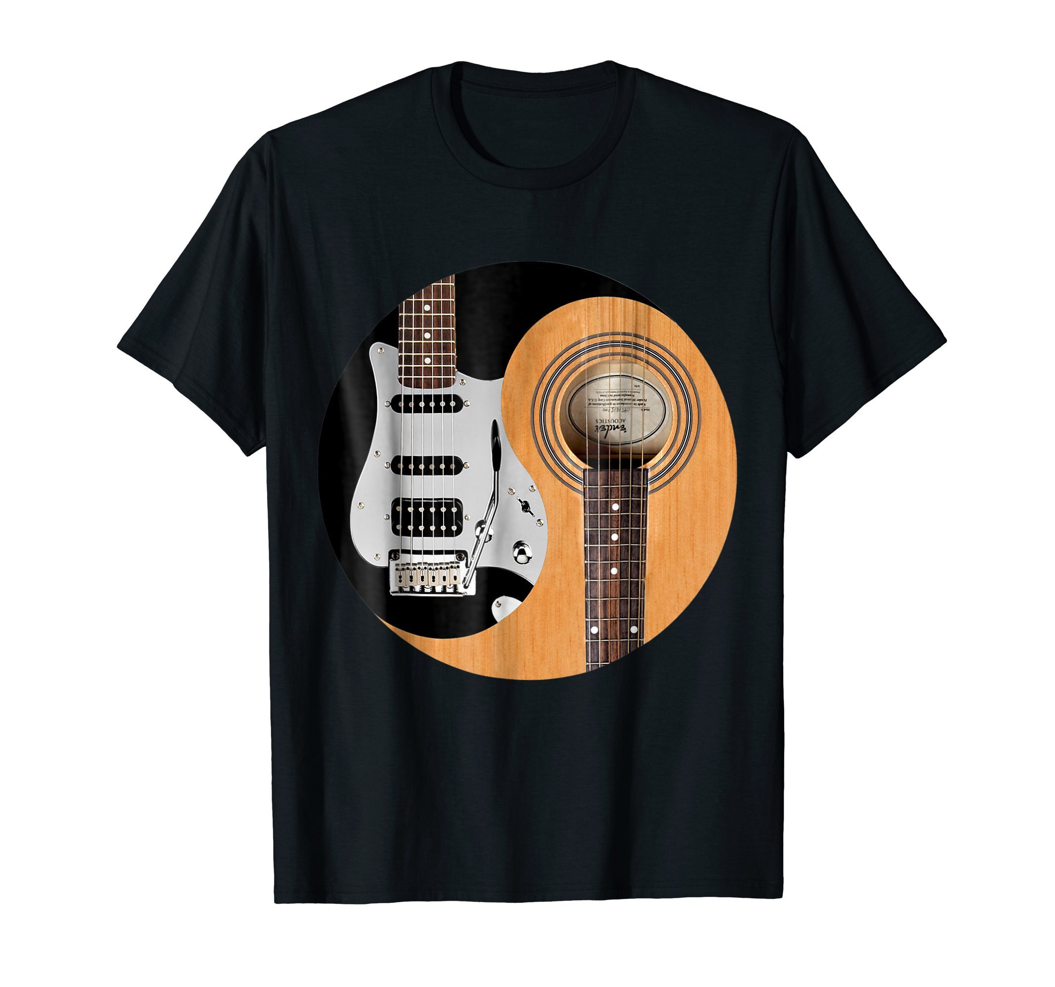 Guitar Yin Yang Acoustic And Electric Guitars T-Shirt by Guitar Power Co.