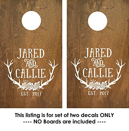 Cornhole decals custom corn toss decals decals for corn toss game 2 decals