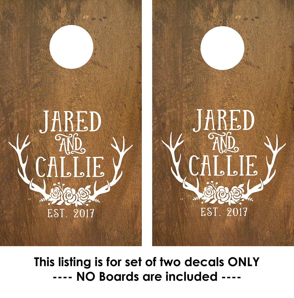 Cornhole Decals - Custom Corn Toss Decals - Decals for corn toss game - 2 Decals by Old Barn Rescue Company