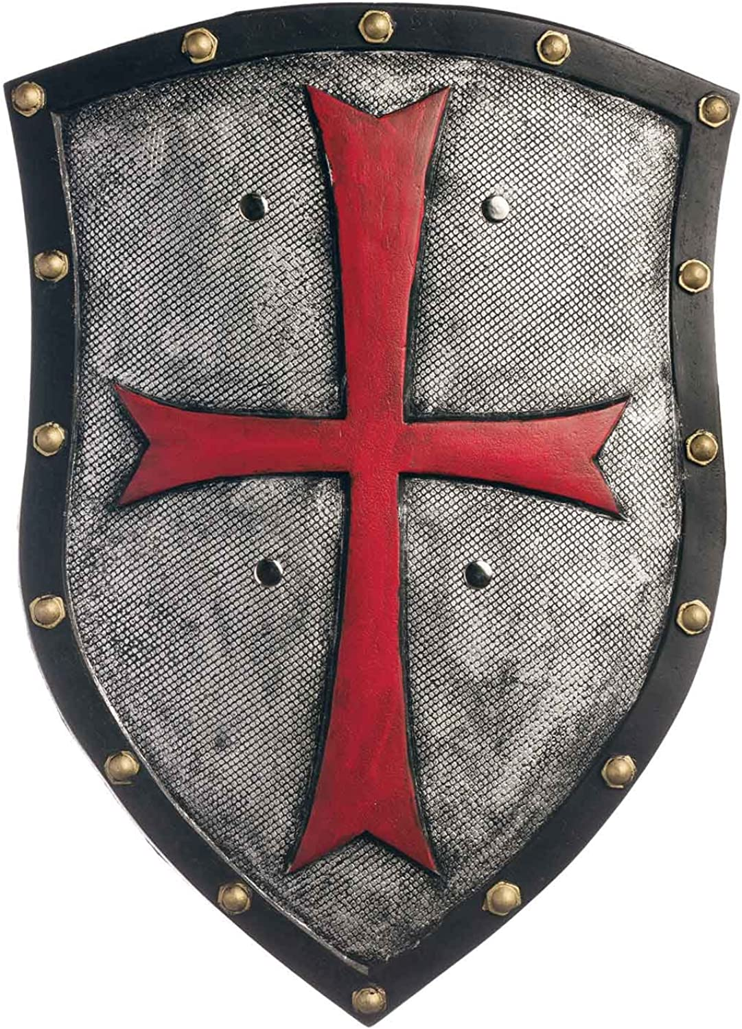 Amazon.com: Men's Medieval Knight Costume Shield (Templar Cross ...