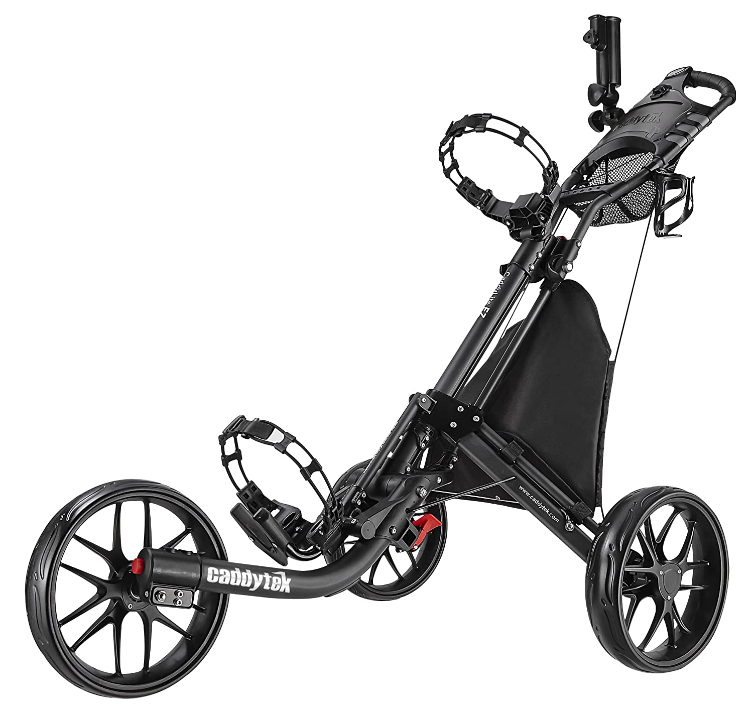 Amazon Com Caddytek Ez Fold 3 Wheel Golf Push Cart Dark Grey