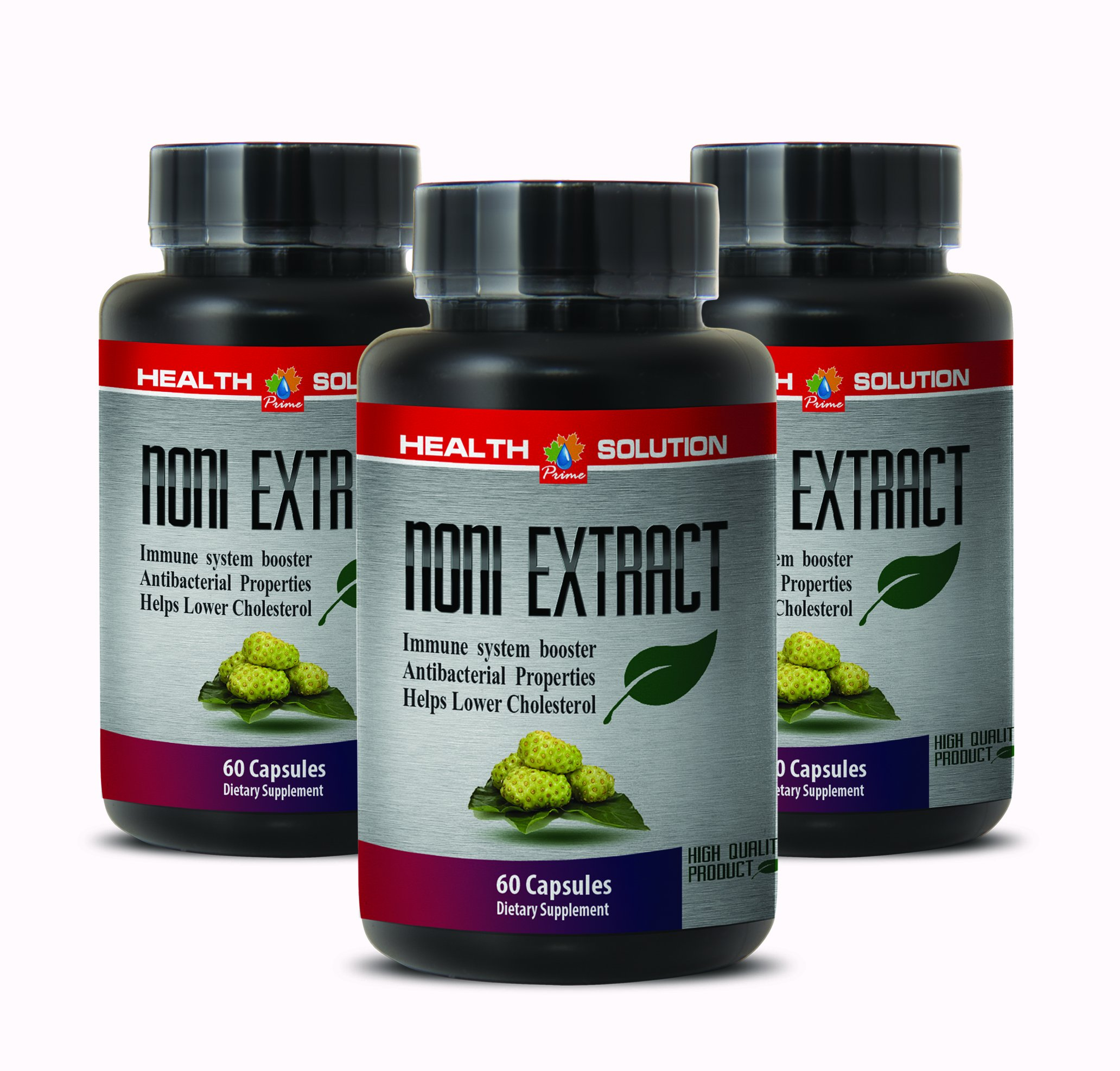 Pure noni leaf extract - NONI 8:1 CONCENTRATE 500MG - support the central nervous system (3 Bottles)