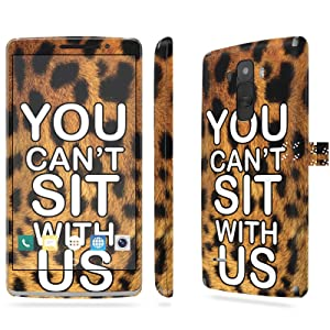 LG [G Stylo] Skin [NakedShield] Scratch Guard Vinyl Skin Decal [Full Body Edge] [Matching WallPaper] - [Can't Sit with Us Leopard] for LG [G Stylo] [LS770 H631]