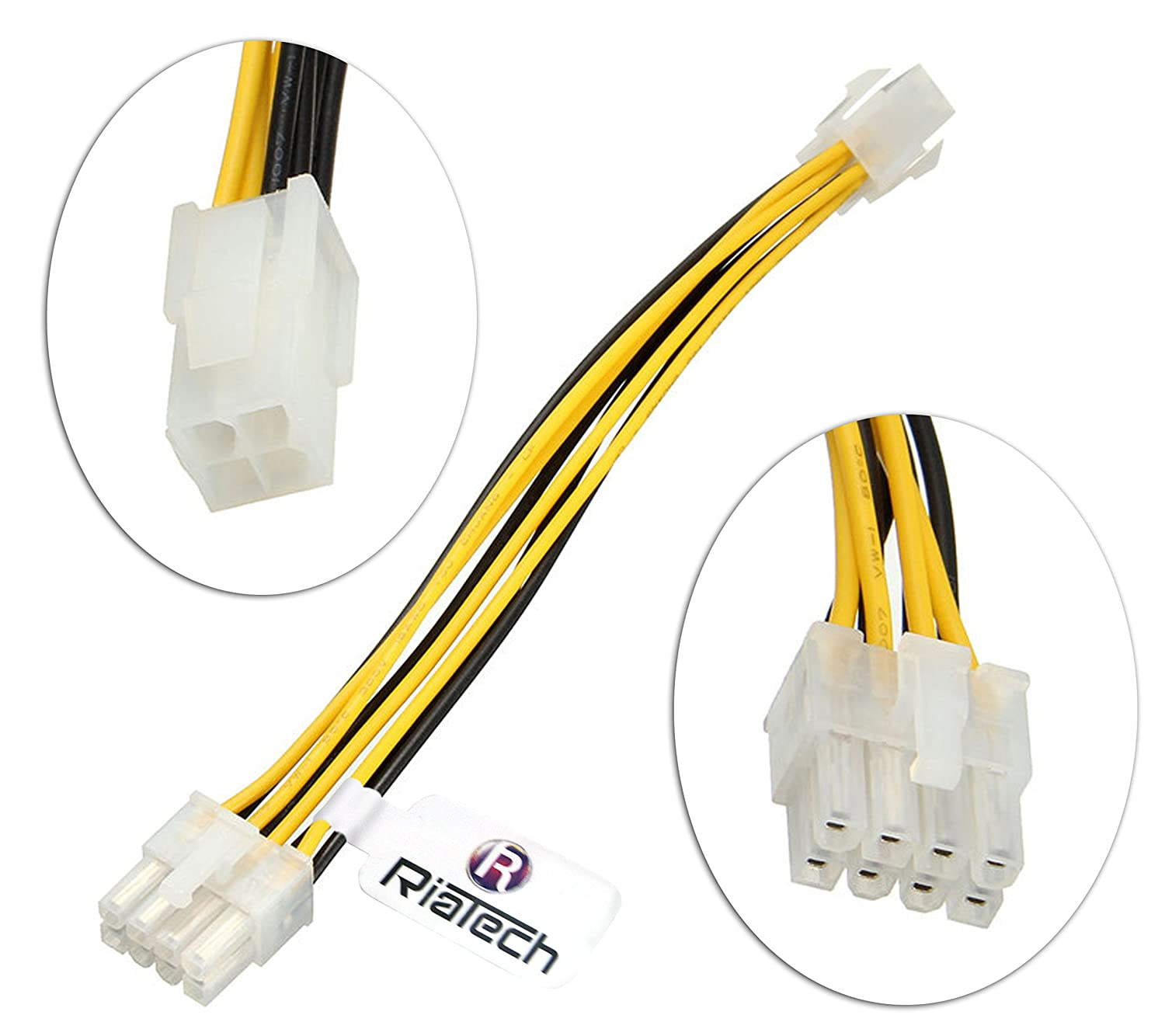 ATX EPS CPU 8PIN Female to Male 4+4Pin 18AWG PSU Extension Power Cord Cable NEW