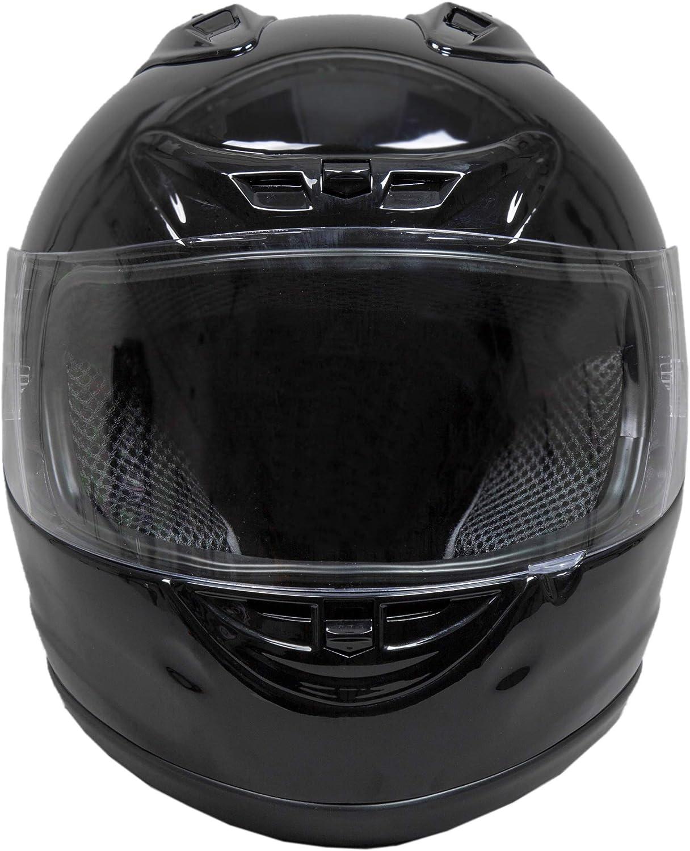 Fuel Helmets SH-FF0015 Unisex-Adult Full Face Helmet Gloss Black, Medium