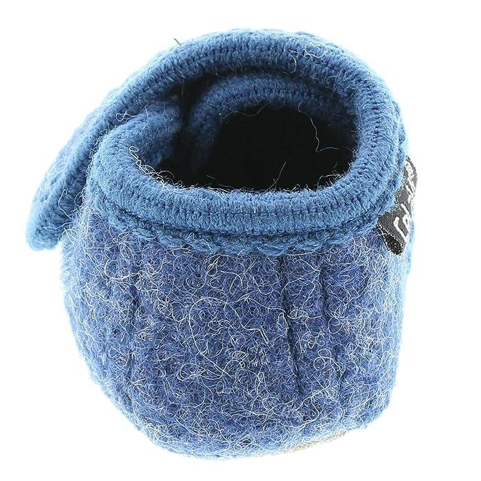 Celavi Patucos para bebé unisex de lana, 100% lana, Talla: 17/18, Color: Rojo, 5712