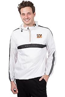 6b76557b822 ICER Brands NFL Womens Quarter Zip Pullover Hoodie Windbreaker Jacket  Packable