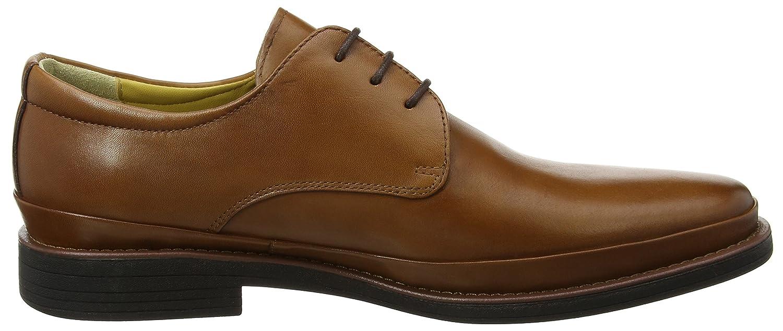Steptronics Angelo, Zapatos de Cordones Oxford para Hombre, Marrón (Cognac 021), 42 EU