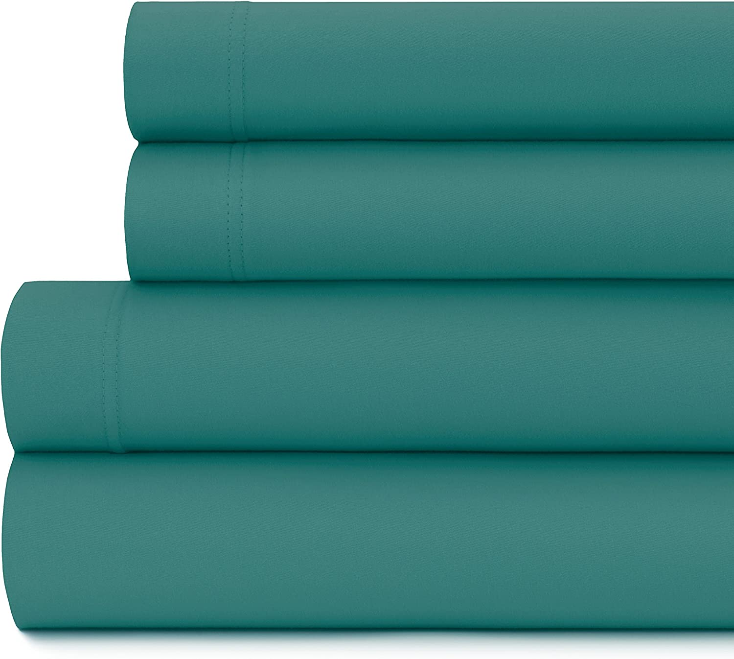 Briarwood Home Queen Size Jersey Knit Sheet Set - 4 Pc Super Soft 100% Cotton Breathable Bed Sheets – Easy Fit – Comfortable, Cozy T-Shirt Soft – All Season Luxury Bedding (Queen, Teal)