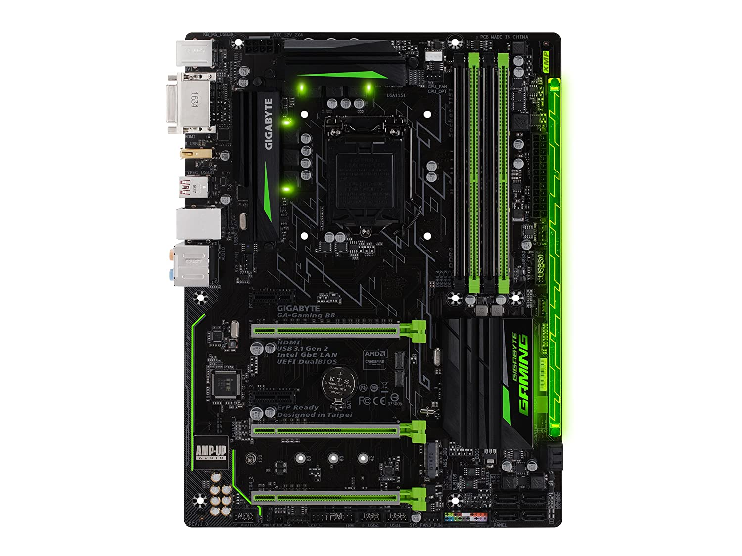 81S wDWje4L._SL1500_ amazon com gigabyte ga gaming b8 lga1151 intel atx 2 way  at bakdesigns.co