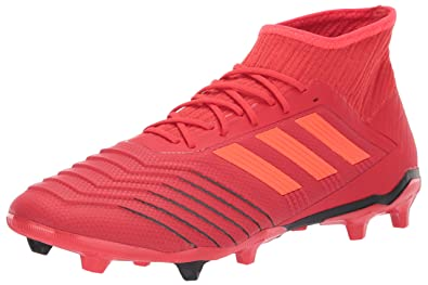 722498af49a adidas Men's Predator 19.2 Firm Ground, Active Solar red/Black, 6.5 M US