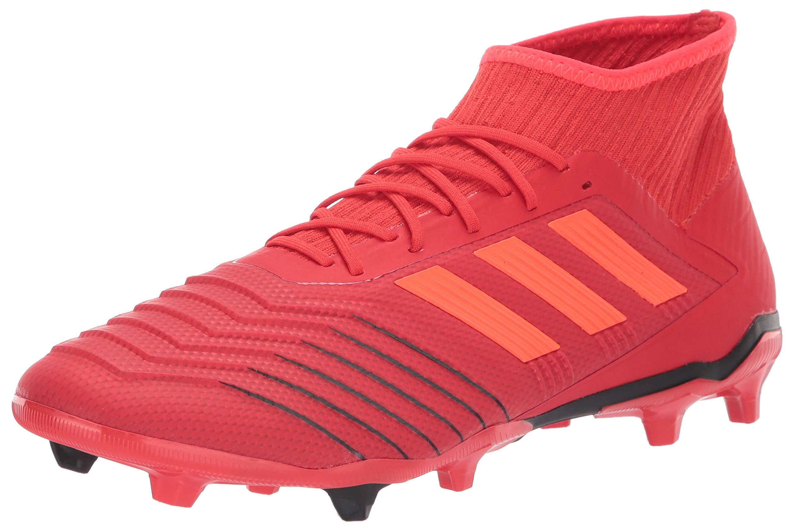adidas Men's Predator 19.2 Firm Ground, Active Solar red/Black, 7 M US