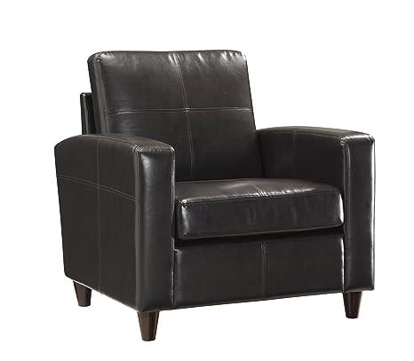 Amazon.com: OSP Muebles Café Expreso Eco piel Club silla con ...