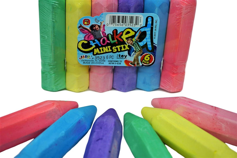JA-RU Chalk by Chalks for Boards Sidewalks School   Item #3523-6 Jaru 6 Packs of 6 36 Count