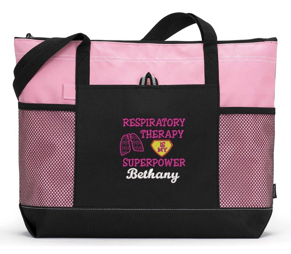 Respiratory Therapy is My Superpower Personalized Embroidered Tote