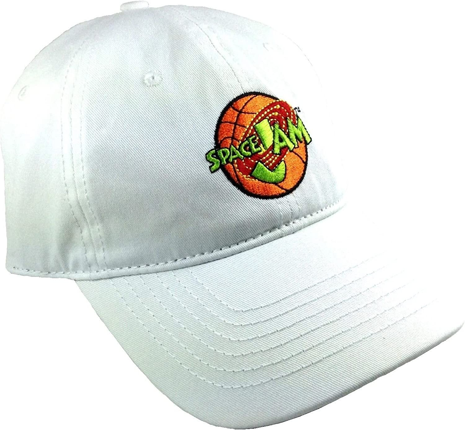 Amazon Com White Space Jam Embroidered Logo Adjustable Dad Hat