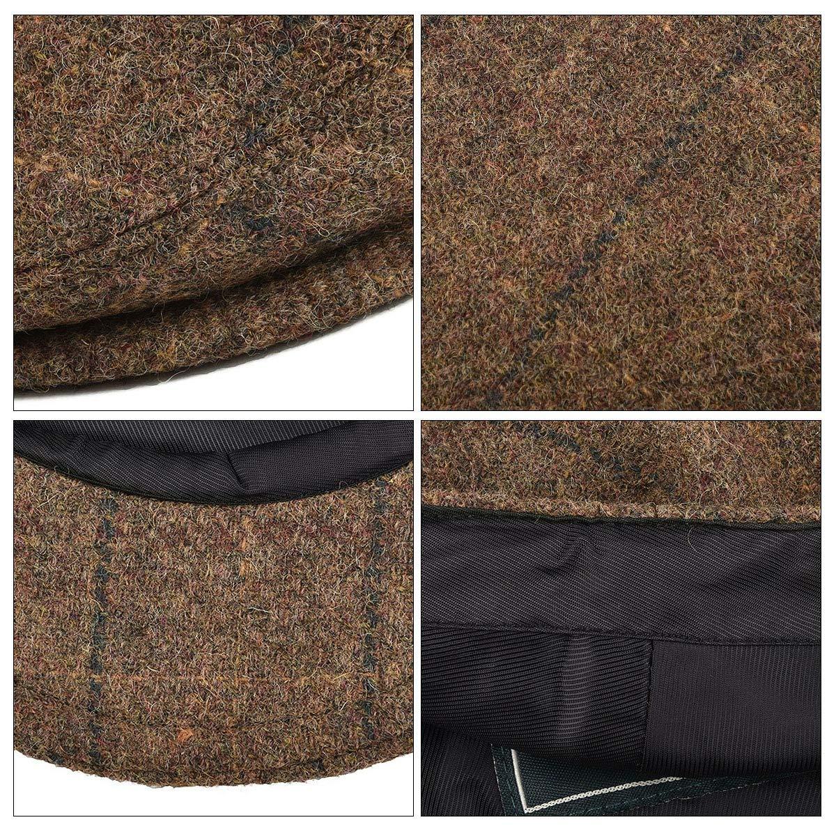 BOTVELA Mens 100/% Wool Flat Cap Classic Irish Ivy Newsboy Hat