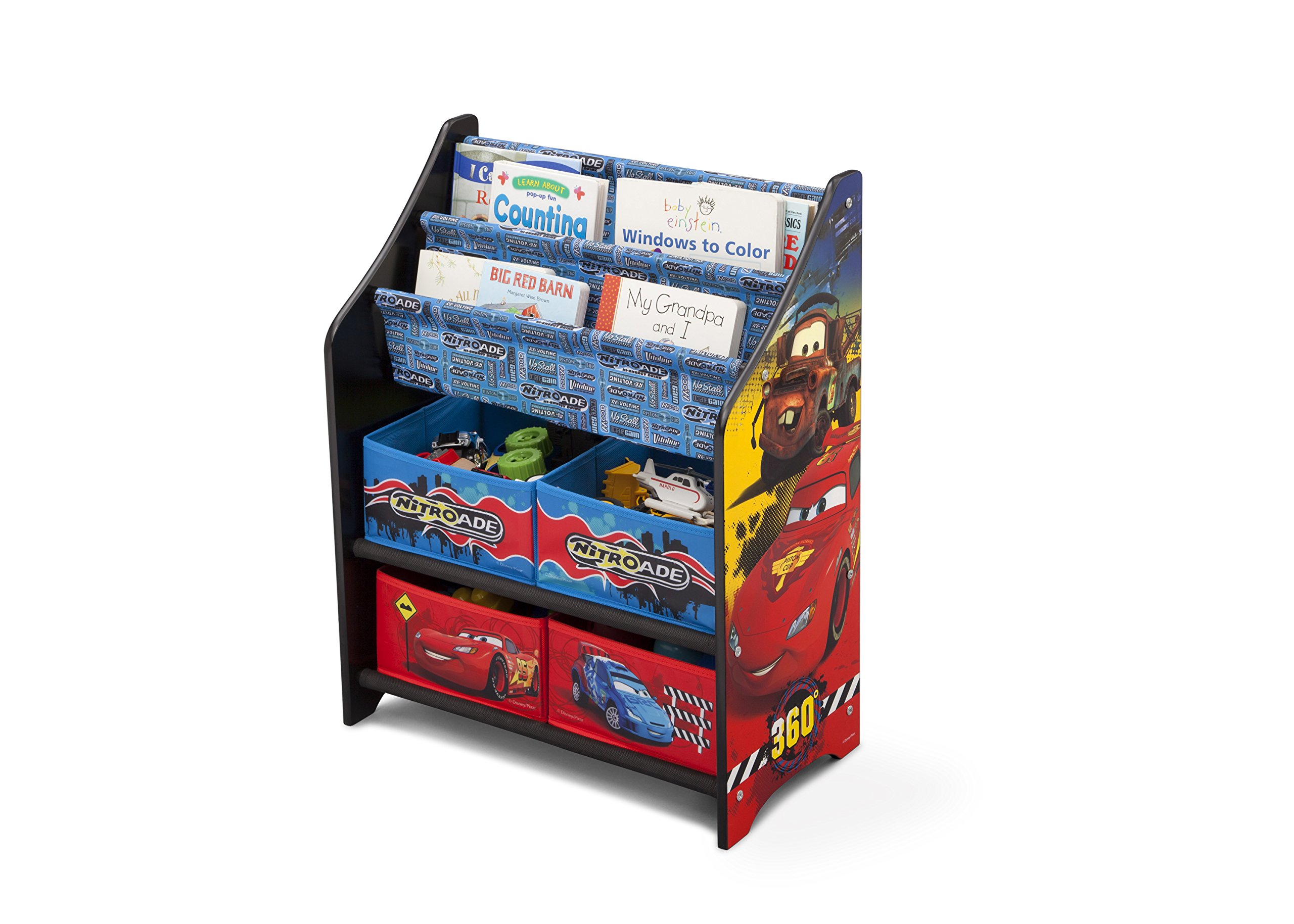Delta children cars book and toy organizer disney ebay for Toy and book storage