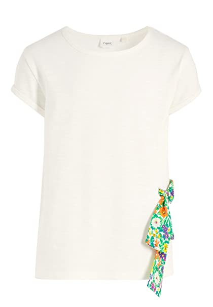 next Niñas Camiseta De Mangas Cortas con Lateral Anudado (3-16 Años)