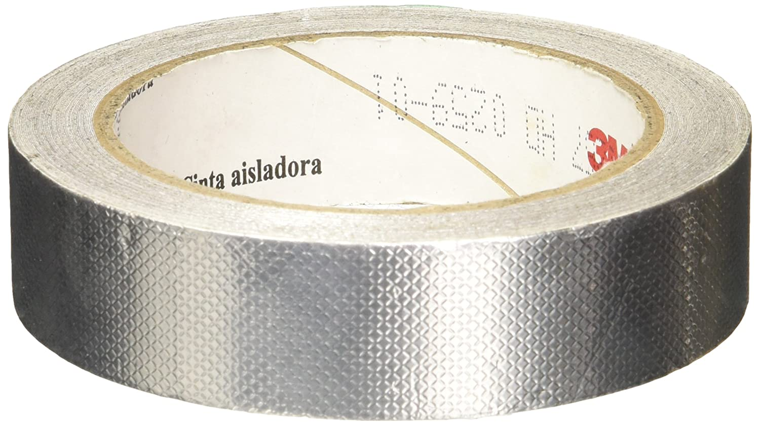 "3M 1345 0.5"" x 18yd Silver Tin/ Copper/Acrylic Adhesive Embossed Foil Tape 0.004"" Thick, 18 yd length, 0.5"" width, 1 roll"