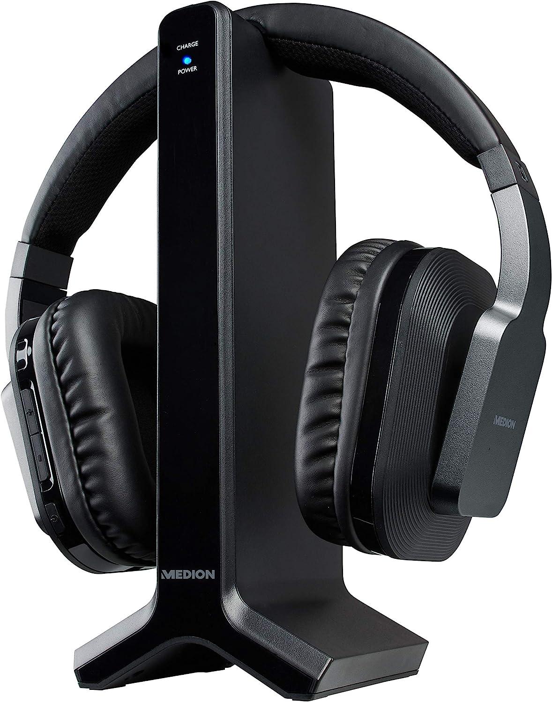 Medion E69288 Over Ear Funkkopfhörer Mit Ladestation Elektronik