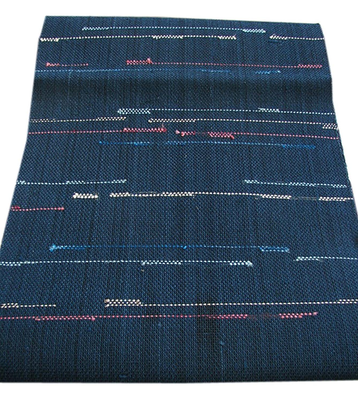 博多着物市場 きものしらゆり 夏帯 紗 横縞 なごや帯 小紋 正絹 仕立て上がり B07FXZCF3P  -