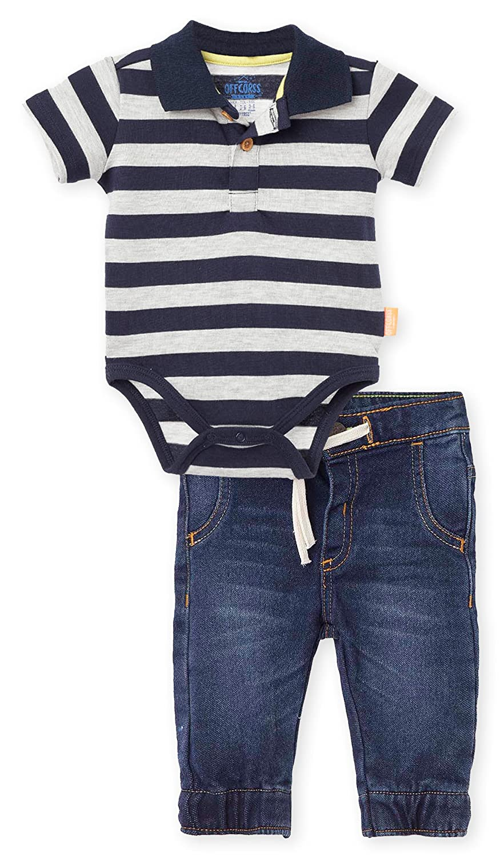 Amazon.com: OFFCORSS Baby Boy Polo Shirt Bodysuite + Jeans Casual Outfit Conjunto de Bebe: Clothing