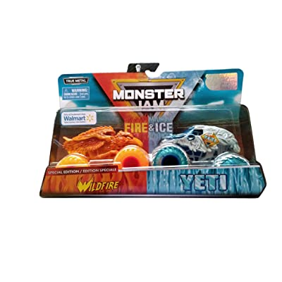 MJ 2020 Monster Jam Fire & Ice Wildfire and Yeti Special Edition: Toys & Games