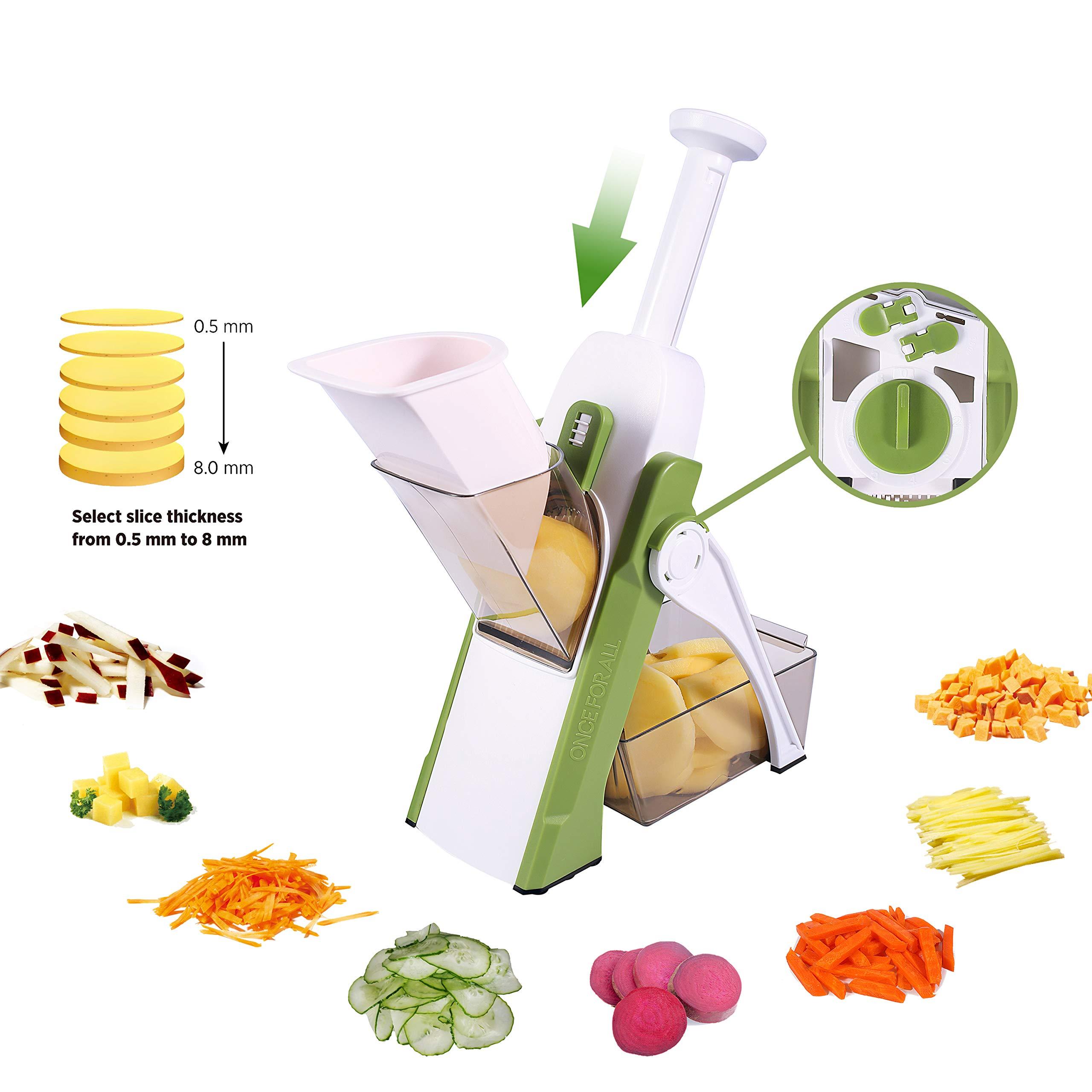 Vegetable Cutter Mandoline Slicer,ONCE FOR ALL.Food Chopper,Dicer Fruit,French Fry Julinner by ONCE FOR ALL
