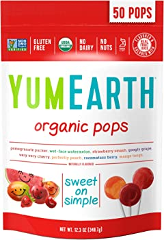 50-Count YumEarth Organic Lollipops 12.3 Ounce Bag
