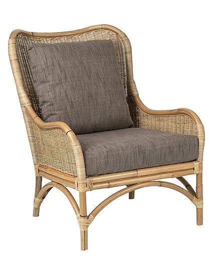 Beau East At Main Osborne Brown Rattan Accent Chair   27u0026quot;x32u0026quot ...