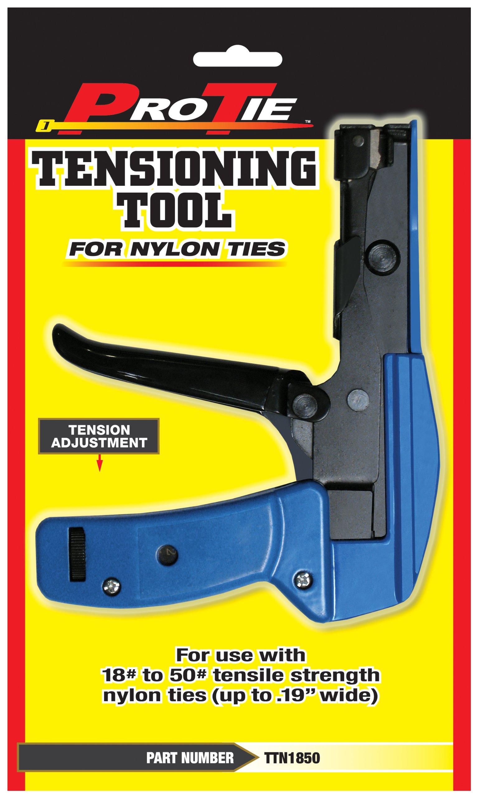 Pro Tie TTN1850 6.25-Inch 18 to 50-Pound Light Duty Tension Tool Ties, Nylon