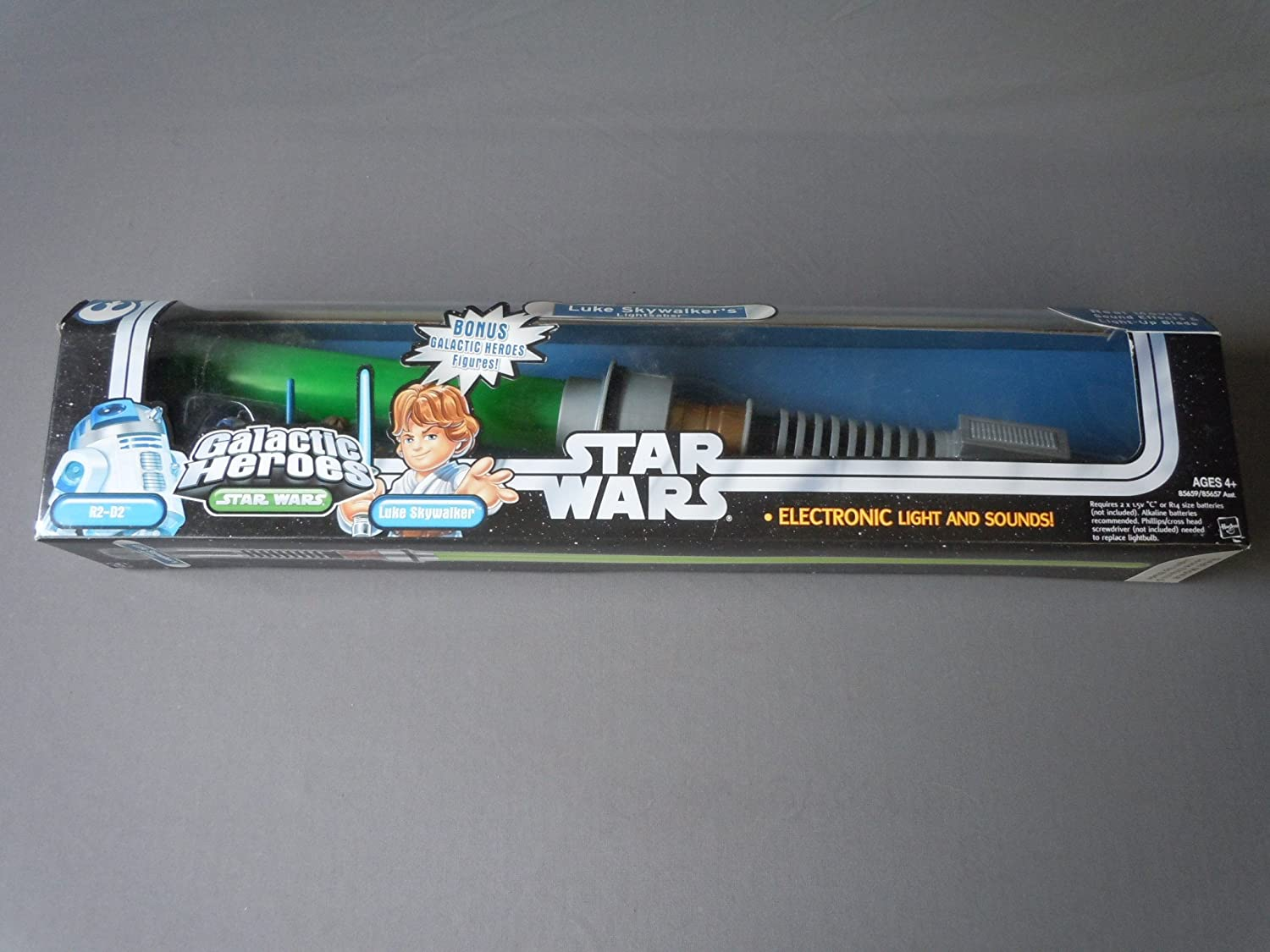 Star Wars Trilogy Galactic Heroes Luke Skywalker R2D2 Lightsaber RARE