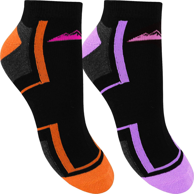 3 paire de dames Pro Hike Trainer Gym Sports Chaussettes doublure coton UK 4-7 2225