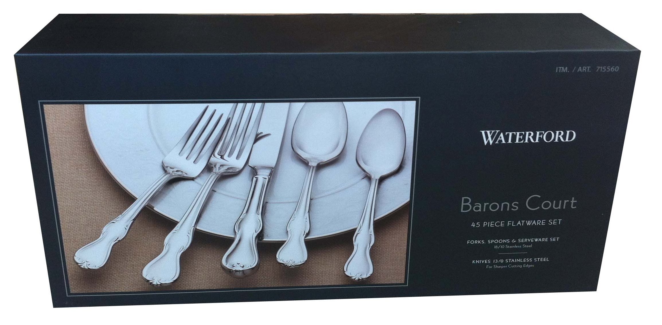 Waterford Barons Court 45 Piece Stainless Steel Flatware Set (Includes 5 Piece Hostess Serving Set)
