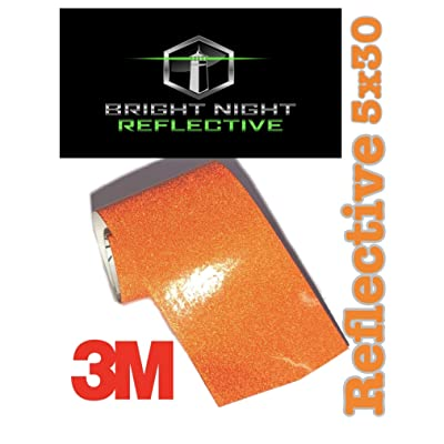 Bright Night Reflective 3M Motorcycle Helmet Safety Tape Decal Sticker Kit DYI (Orange, 5x30): Clothing