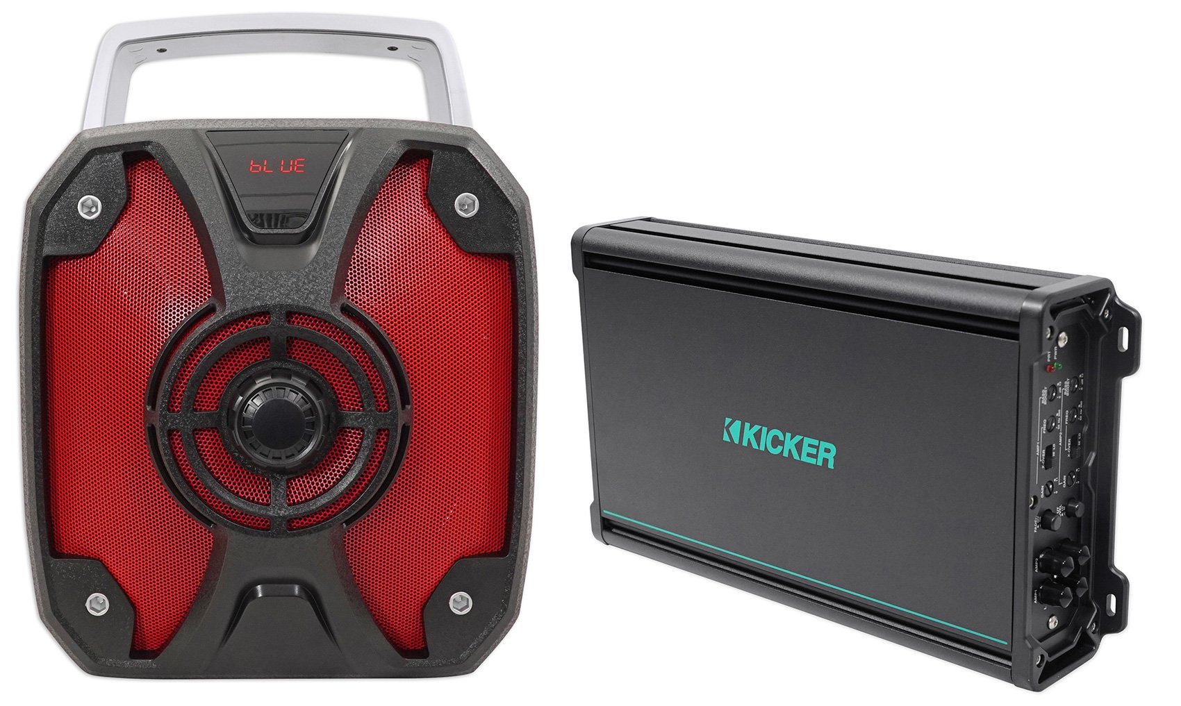 KICKER 45KMA3004 300w 4-Channel Marine Amplifier 2-ohm Boat Amp Class D+RockBox